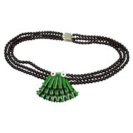 Haskell 3 Strand Swag Lampshade WWII Era Necklace