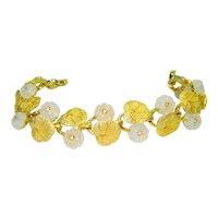 Pennino Iridescent Faux Moonstone Jeweled Bracelet