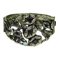 Victorian Revival Morning Glories Ornate Bracelet