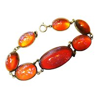 Lg Sterling Dragons Breath Arts Crafts Early Bracelet