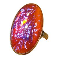 LG Fiery Dragons Breath Sterling Silver Ring Size 8 1/2