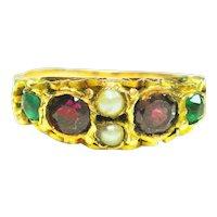 Edwardian  12kt Gold Suffragette  Ring  S 6 1/2