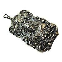 Fine Figural Kerr Sterling Goddess Angel Matchsafe Necklace Pendant