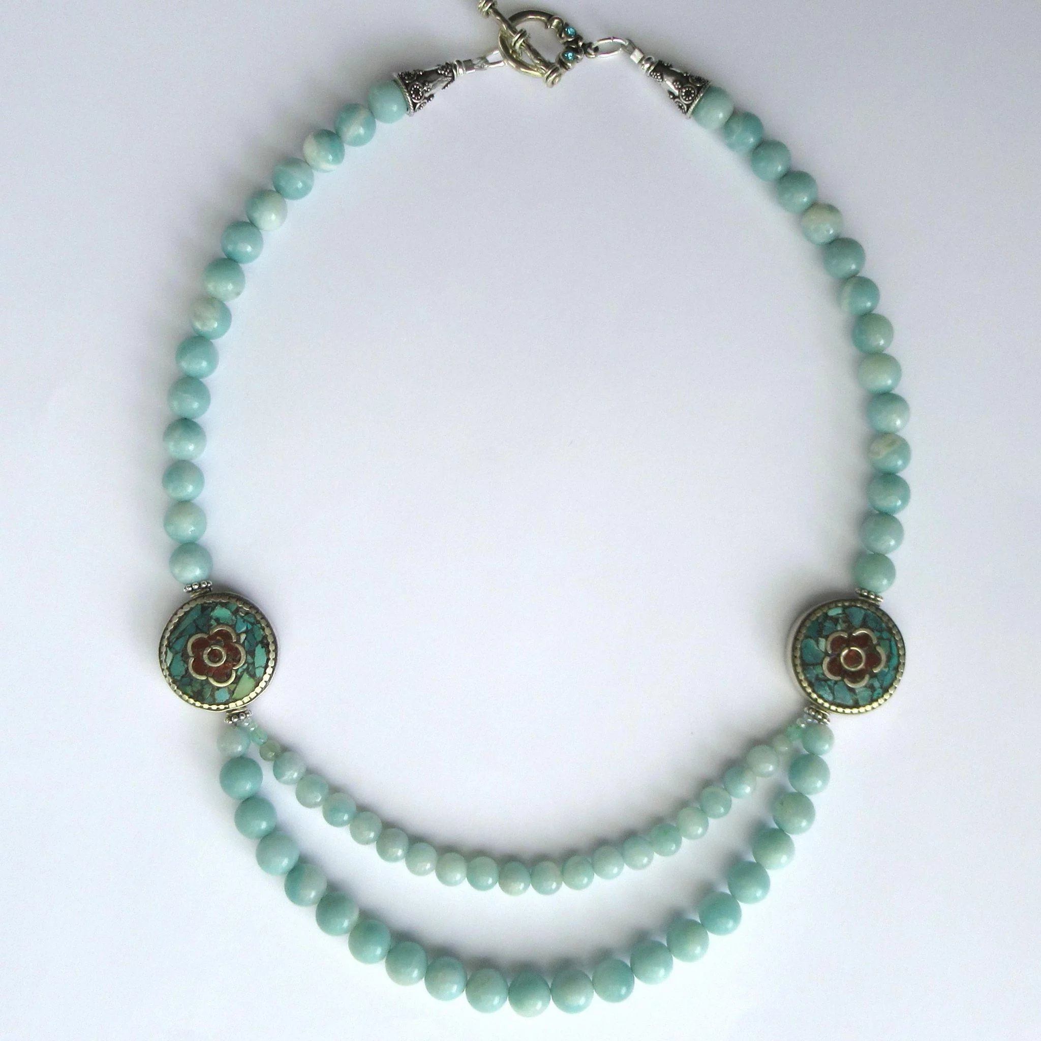 handmade business promotion jewelry mala necklaces businesses rose small beaded support beads knotted quartz amazonite pin knots crafts ideas necklace