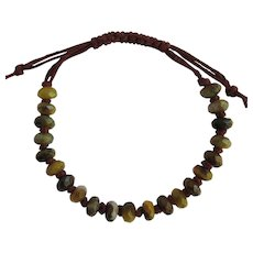 Bracelet of Faceted Pietersite in Rich Golden Colors
