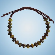 Bracelet of Faceted Pietersite in Rich Golden Colors