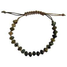 Bracelet of Faceted Pietersite in Blue – Grey – Black