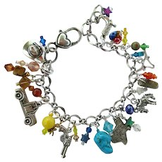 Cowgirl Charm Bracelet with Fabulously Unique Texas Charm