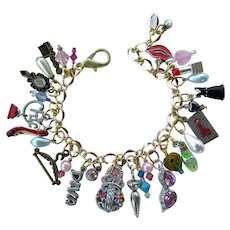 Fashionista Charm Bracelet with Fashion Related Charms