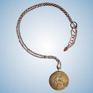 1885 Victorian Coin on Copper Chain