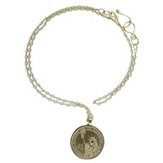 Statue of Liberty Coin Pendant on 14Kt Gold-Filled Chain