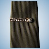 Vintage Tie Bar with Chain Design by Swank