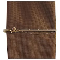 Vintage Fishing Rod Tie Clip with Detailed Reel and Fishing Line by Hickock