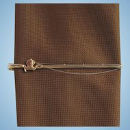 Vintage Fishing Rod Tie Clip – Detailed with Reel and Fine Fishing Line – by Hickock