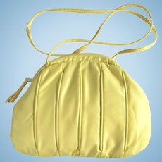 Vintage 1960's Yellow Marshmallow Cross-Body Handbag