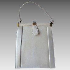 Vintage 1940's Leather Handbag in Champagne Color