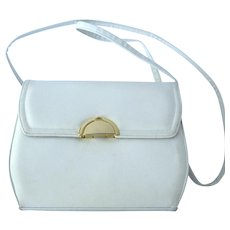 Vintage 1970's White Shoulder Handbag by Frenchy of California