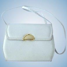 Vintage 1970's White Shoulder Handbag by Frenchy of California