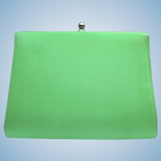 Vintage 1960's Clutch in Chartreuse Green Color with Convertible Chain