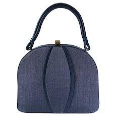 Vintage 1950's Navy Blue Handbag by Markay Bags
