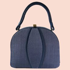 Vintage 1950's Navy Blue Handbag by Markay Bags