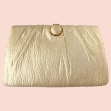 Vintage 1950's Gold Lame Clutch by HL Harry Levine – Convertible Chain
