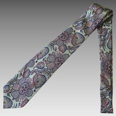 Vintage Robert Talbott Nordstrom Silk Necktie with Stylized Design in Sea Green and Blue