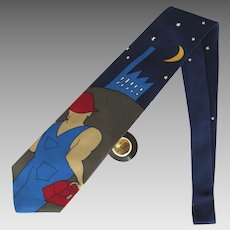 Vintage Beatles Necktie – A Hard Day's Night – Mint with Original Record-Shaped Tag