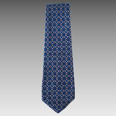 Vintage 1950's Blue Necktie with Red and White Accents – Original Towncraft Dacron Tags