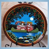 Paddlin Madelin Home Golden Oldies Cat Collector Plate by Thaddeus Krumeich