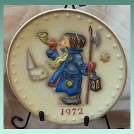 Goebel M. J. Hummel Bas Relief Annual 1972 Plate