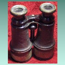 Paris Merchant Marine Binoculars Leather and Metal