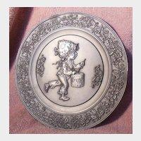 Hallmark Little Gallery 1978 Pewter Plate The Legend of The Little Drummer Boy