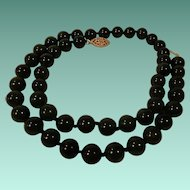 Jade Dynasty Collection Dark Green Jade Bead Necklace
