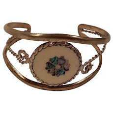 Lovely Alpaca Mexico Floral Cuff Bracelet for Small Wrists