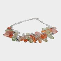 Pastel Multicolored Lucite Bead Necklace/Choker