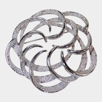 Tailored Swirling Branch Silver Tone Pin by Sarah Coventry