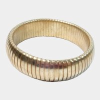 Gold Tone Stretch or Expansion Bracelet
