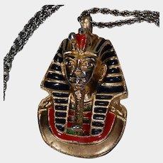 Vintage Egyptian Revival King Tut Tutankhamun Pendant