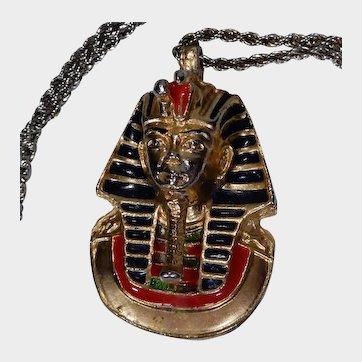 Vintage Egyptian Revival King Tutankhamun Pendant