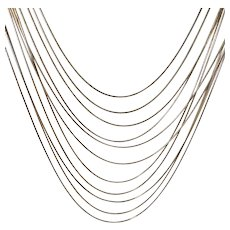 Multi Strand Draped Goldtone Necklace Signed Joan Rivers