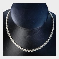 Napier Gold Tone and Faux Seed Pearl Choker Necklace