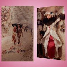 Hallmark Holiday Memories Barbie 1995 Red and White Elegance NIB