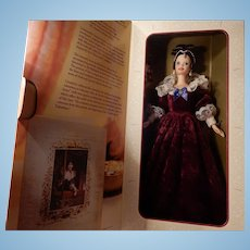 Hallmark Sentimental Valentine Barbie 1996 Red Velvet and White Lace NIB