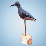 19th Century Folding Tin Shore Bird Decoy