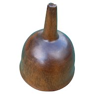 19th Century Primitive Carved Wooden Funnel Treenware