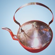 19th Century American Copper Swing Handle Tea Kettle