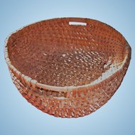 Large Double Handled Splint Buttocks Basket