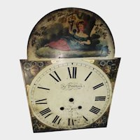 19th Century Tall Case Grandfather Clock Dial Face