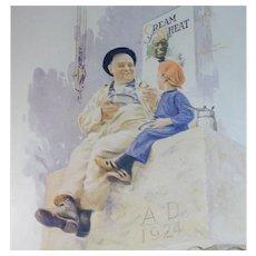 1924 Cream of Wheat Magazine Advertisement Laying the Cornerstone Edward V. Brewer